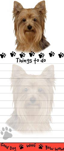 pad a yorkie quot yorkie magnetic list pads quot uniquely shaped sticky notepad measures 8 5 by 3 5 inches