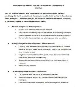 industry report template industry analysis template 5 free sample example efind web industry analysis reports