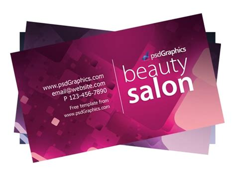 Hair Salon Business Cards Templates Free 100 free psd business card templates