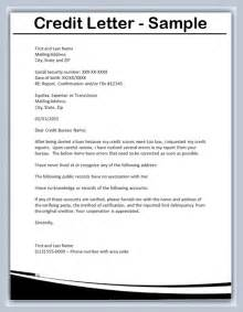 how to write a credit letter sles