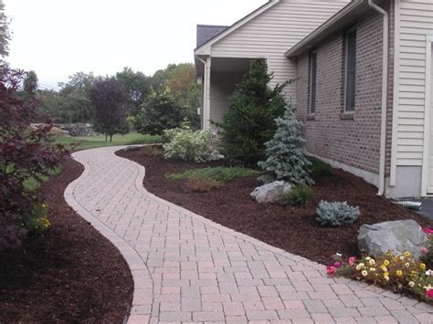 How To Build A Raised Paver Patio Walkway And Patio Design In Ma Natural Path Landscaping