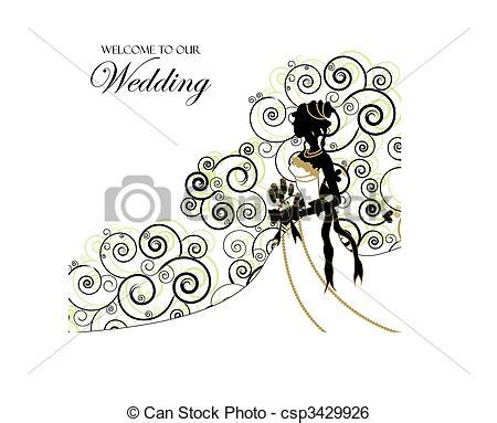 clip art vector of wedding graphic; use as invitation or
