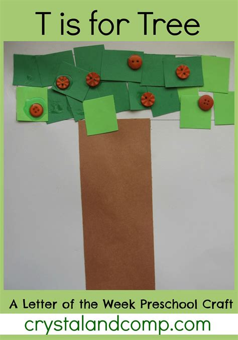 tree pattern for preschool craft t is for tree a letter of the week preschool craft