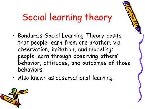Behavior Modification Bandura by Social Learning Theory Ppt