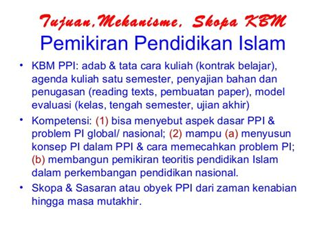 pemikiran pendidikan islam
