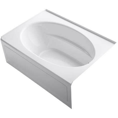bathtubs 60 x 42 kohler windward 60 quot x 42 quot soaking bathtub reviews wayfair