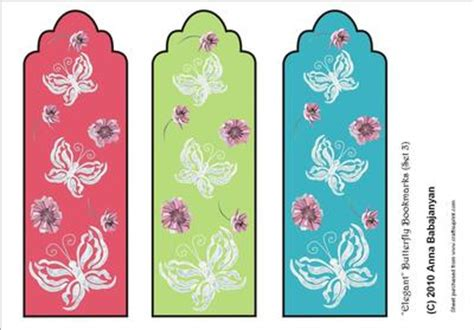 printable butterfly bookmarks elegant butterfly bookmarks set 3 cup64012 96