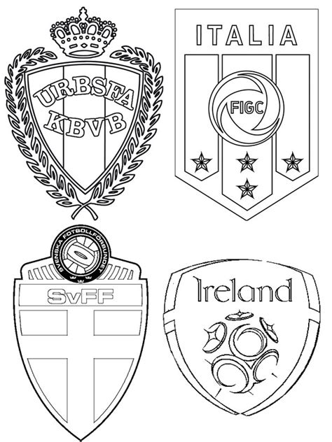 coloring pages euro coloring page uefa euro 2016 group e republic of