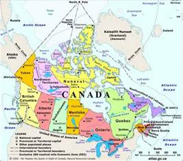 map canadian arctic circle