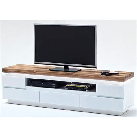 Brown Dining Room Table romina lcd tv stand in knotty oak and white matt with led