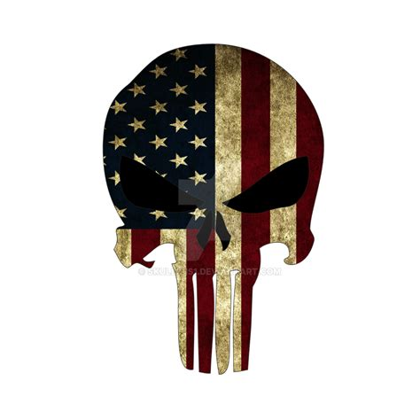 punisher american flag by skullz is1 on deviantart