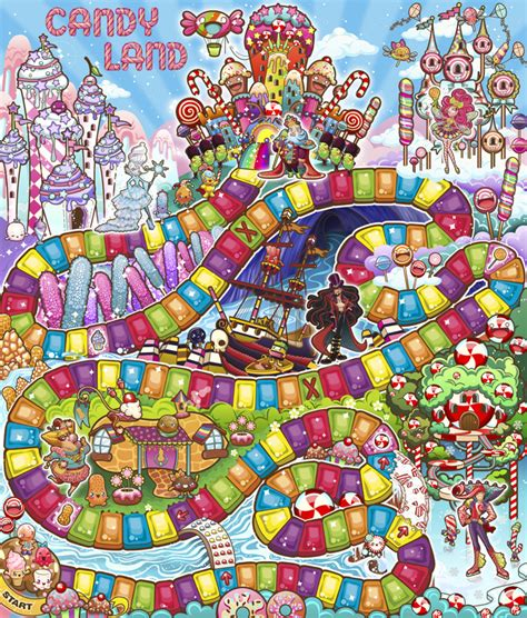 layout for game candy land packaging stephanie swanson
