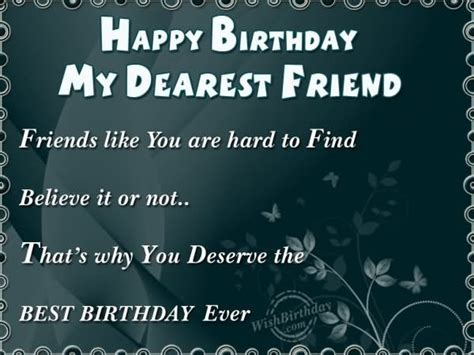 Happy Birthday Wishes To My Friend Quotes Dearest Quotes Like Success