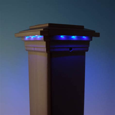 Bright Solar L Post by Solar Post Cap Light For Trex Post Sleeves By Ultra Bright Technologies Decksdirect