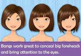 hairstyles for thinning hair 55 high forehead ideas about hairstyles for girls with big foreheads