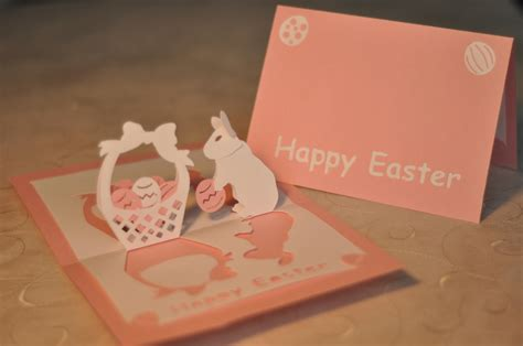 pop up easter card templates easter bunny and basket pop up card template