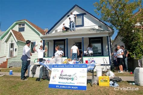 winnipeg house painters winnipeg house painters volunteers brush up on their