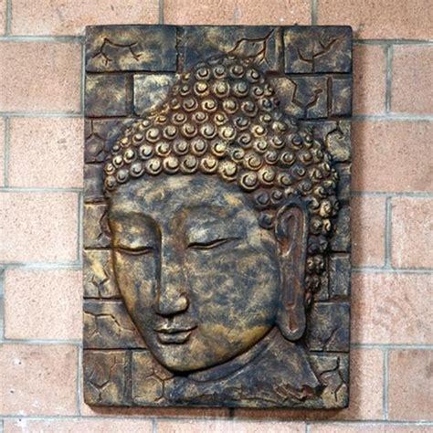 buddhist decor small relief buddha face wall decor