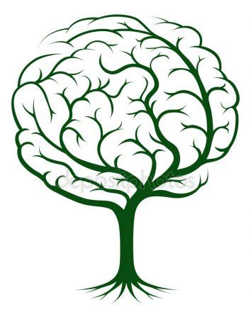 brain tree illustration — stock vector © krisdog #13156423