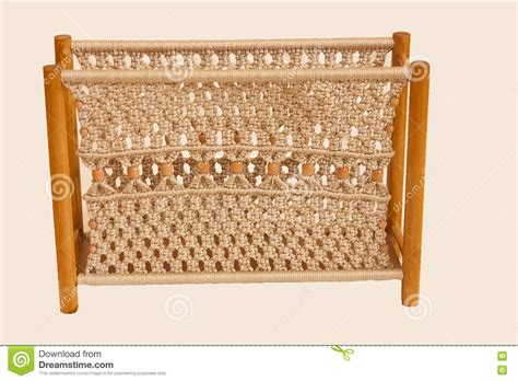 Macrame Magazine - macrame magazine rack stock photo image of useful knots