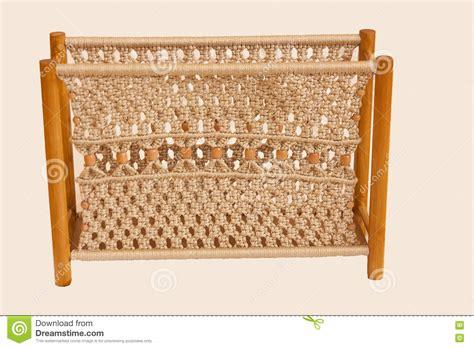 Macrame Magazine - macrame magazine rack stock photo image of useful knots