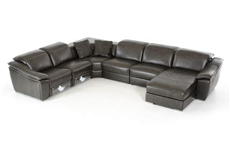 dark gray sectional divani casa jasper modern dark grey leather sectional sofa