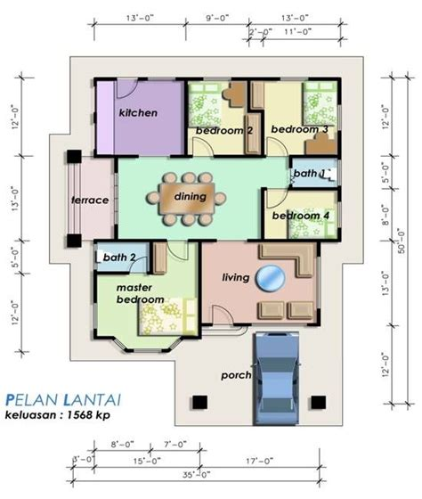 layout rumah teres plan rumah teres ideas for the house pinterest