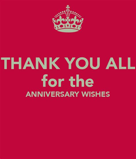 Wedding Anniversary Wishes Posters by Thank You All For The Anniversary Wishes Poster Bobby