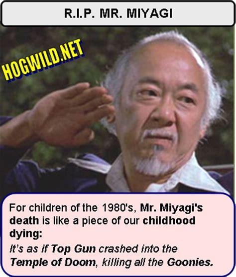Mr Miyagi Meme - pat morita dead karate kid henry winkler jokes jokes and