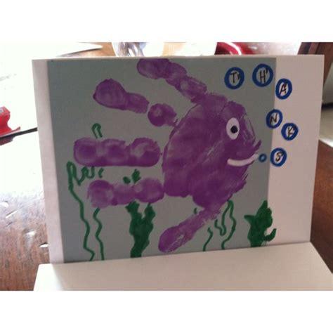 card handprint more fishy handprints thank you cards craft ideas