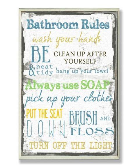 bathroom rules signs bathroom rules wall sign