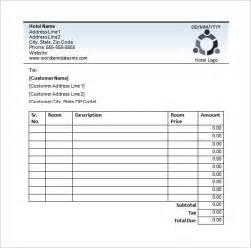 Blank Receipt Template Word Hotel Receipt Template 12 Free Word Excel Pdf Format