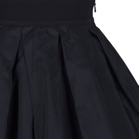 monnalisa black wide pleated skirt with text