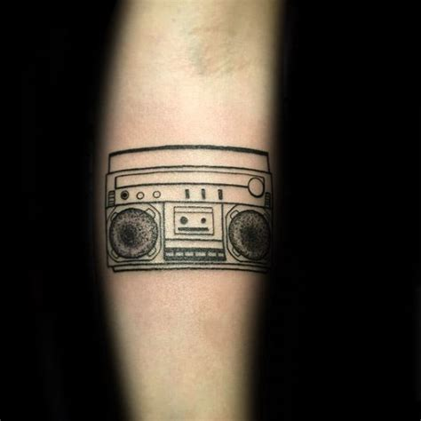 40 boombox tattoo designs for men retro ink ideas
