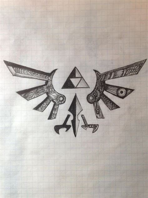 tribal tattoos reddit triforce drawing via reddit user sirgrapes