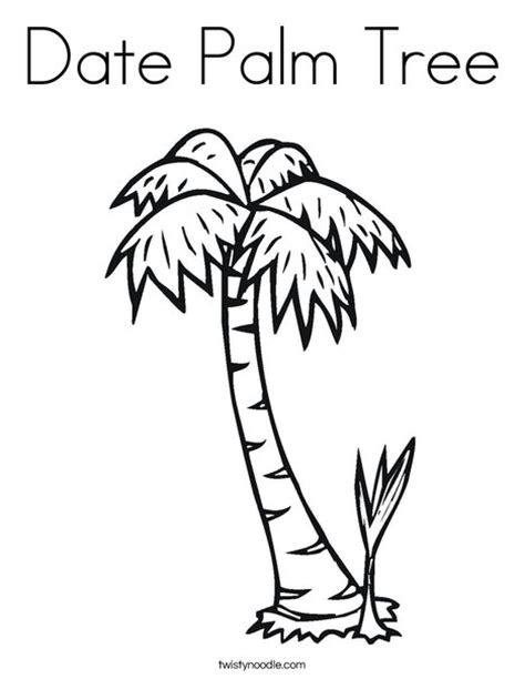 date tree coloring page date palm tree coloring page twisty noodle