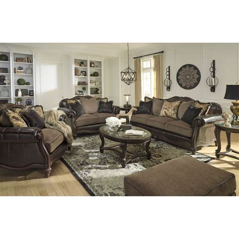 furniture groupings living room signature design by winnsboro durablend stationary