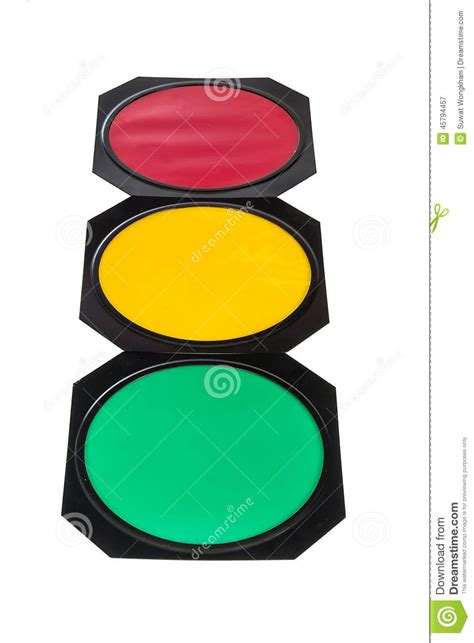 red yellow green light traffic light with red yellow and green lights stock