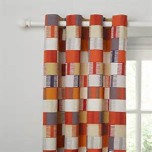 Red And Navy Curtains Buy Scion Navajo Lined Eyelet Curtains John Lewis
