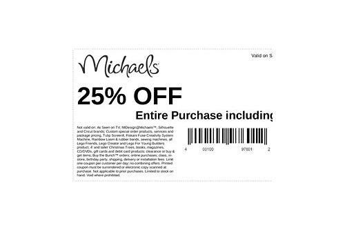 michaels magasin coupons