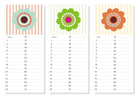 neco template free printable perpetual anniversary birthday calendar