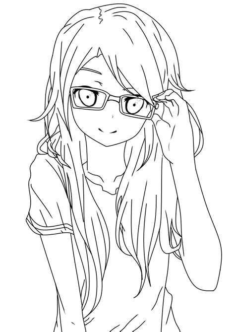 how to color lineart with glasses lineart by salamandershadow deviantart