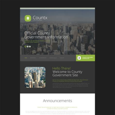 free templates for government website politics website templates