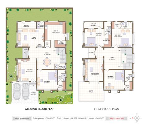home plan designs 5bhk villa for sale in gachibowli hyderabad at subishi