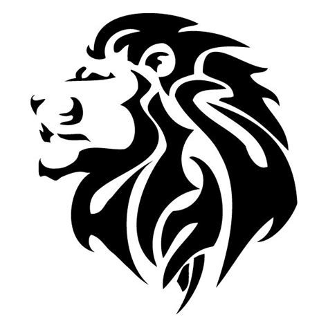 tribal lions tattoos best 25 silhouette ideas on