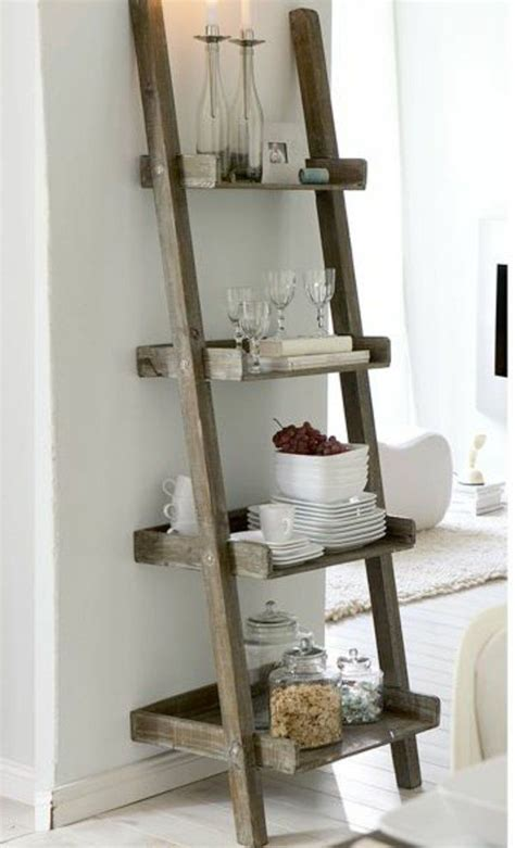 etagere holz 1000 ideas about etagere echelle on ladder