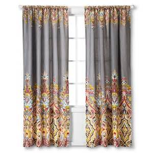 colored curtains mudhut imani curtain panel multi colored 84 quot target