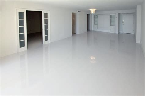 white glossy laminate floors modern miami by glace