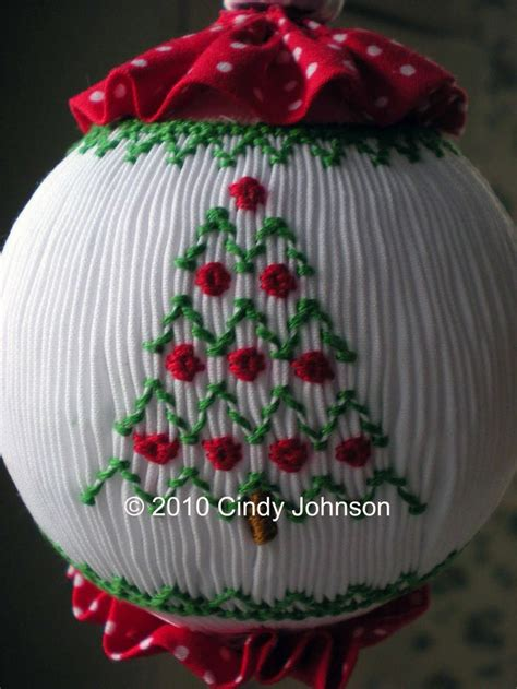 smocked christmas ornament christmas pinterest