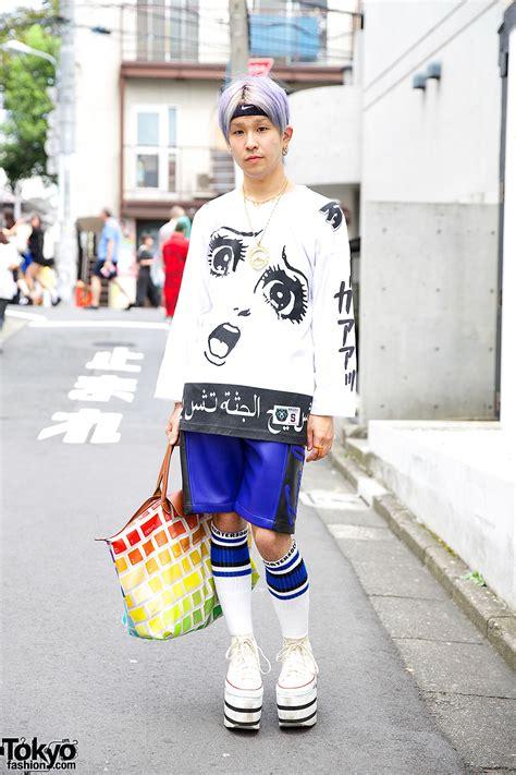 Is Wearing A by Purple Haired Harajuku W Mishka Joyrich